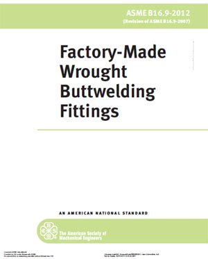 ASME B16.9-2012 Factory-Made Wrought Buttwelding Fittings