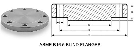 blind flange dimensions
