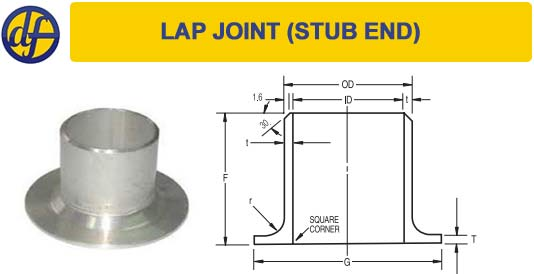 Stub ends | lap joint dimensions