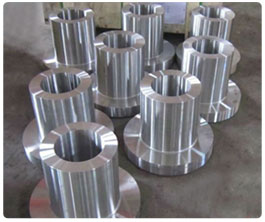 Long welding neck forged flanges without holes