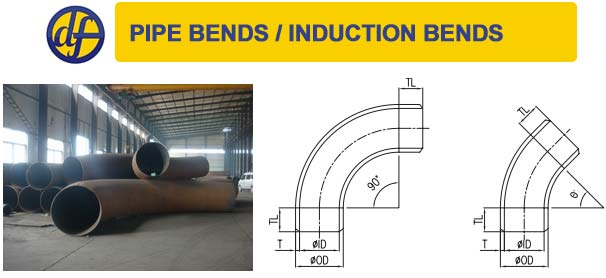 Pipe bends/ Hot Induction Bends Dimensions