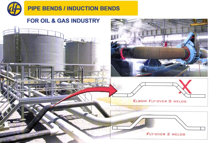 Pipe bends/ Hot Induction For Oil & Gas Industry