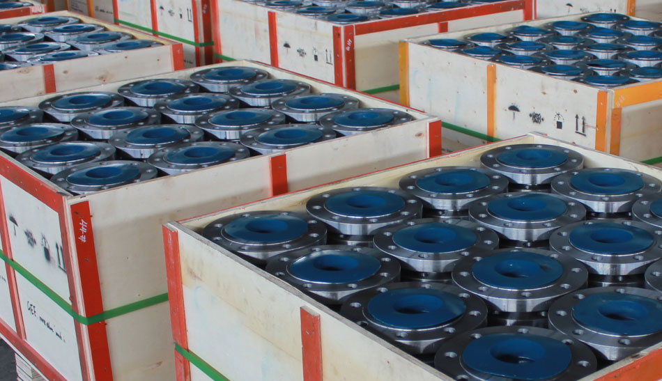 Industrial Steel Flanges packaging to export Thailand