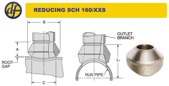 Welding Outlets / Weldolet® dimensions & specifications