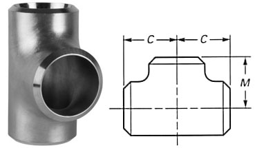 Butt Weld Equal Tee Dimensions