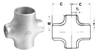 Butt Weld Reducing Cross Dimensions
