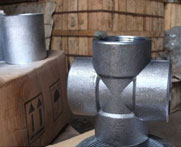 Duplex Steel Forged Screwed-Threaded Equal Tee