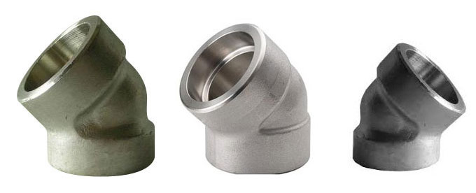 Forged 45 Deg Socket Weld Elbow Manufacturers & suppliers in India