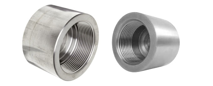 Forged screwed threaded cap dynamic forge fittings