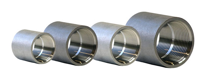Forged screwed threaded reducing coupling dynamic forge
