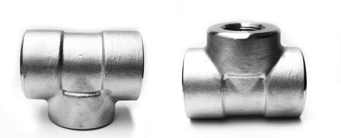 Forged Socket Weld Unequal Tee Manufacturers & suppliers in India