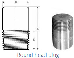Forged Screwed-Threaded Plug Dimensions